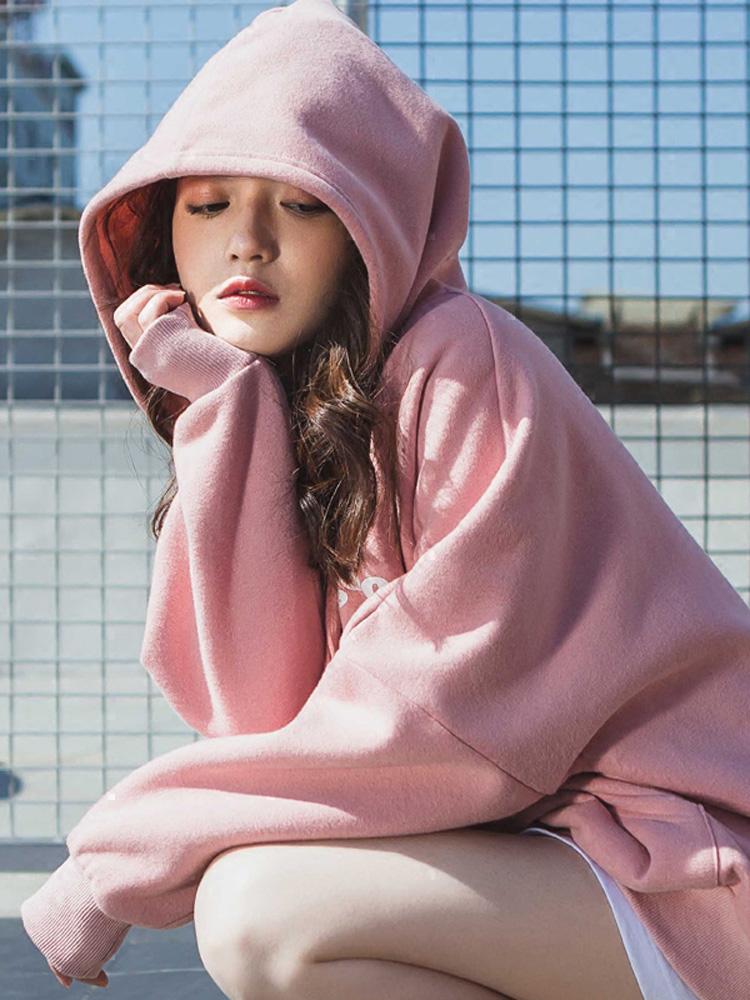 2018新款女装早秋粉色卫衣 女装  图3